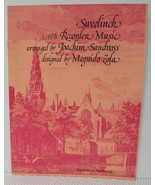 SATB RECORDER MUSIC - CHANSONS by J.P. SWEELINCK Sheet Music Book Classical - $4.37
