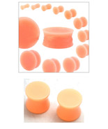 2 PAIR of Skin Color Plugs Silicone Acrylic Hiding Retainer Ear Gauges 6... - $9.69+