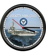 USS Kitty Hawk CV-63 US Navy Veteran US Navy Military Ship Sign Wall Clock - $21.12