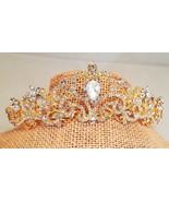 Ravishing Bridal , Prom , Wedding Gold Plated Austrian Crystal Tiara Sty... - $16.58