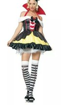 Leg Avenue Sexy Queen of Hearts Costume Alice In Wonderland Size L 83336... - $24.45