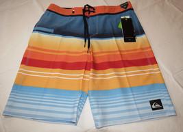 Quiksilver boardshorts 30 board swim shorts MKM6 Stripe Vee 21 30x21 Nasturticm - $38.11