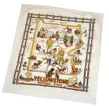 The Red & White Kitchen Co. YellowStone National Park Souvenir Dish Towel - $10.08