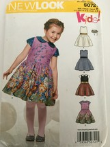 Simplicity New Look S0721 Little Girls Party Spring Summer Dress Sz 3-8 ... - $5.99