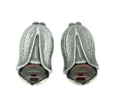 Georg Jensen 2007 Garnet Sterling Earrings (#J4653) - $395.00