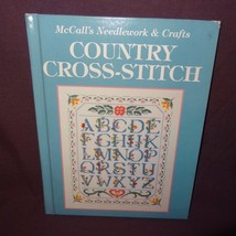 McCall's Needlework Crafts Country Cross-Stitch Book 1992 Patterns Sampl... - $5.99