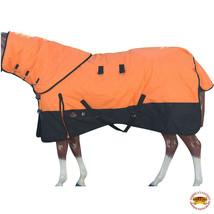 "84"" Hilason 1200D Waterproof Poly Turnout Horse Blanket Neck Cover Orange U-G-84 - $114.99"