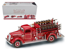 1938 Mack Type 75 Fire Engine Red with Accessories 1/24 Diecast Model Tr... - $112.18
