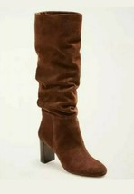 New $248 Ann Taylor Guinevere Slouchy Block Heel Boots Baked Pecan Sz 6.5 - $150.00