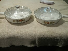 "Corning Ware Spice Of Life 6-1/2"" dish/Skillet P-83-B. With Lid  P 83 B Set of 2 - $34.65"
