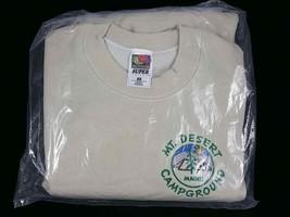 Mt Desert Campground Sweatshirt ~ Fruit of the Loom ~ Size Medium ~ Beige - $18.65