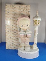 Precious Moments O COME ALL YE FAITHFUL 582972 Boy LampPost Figurine 16-... - $96.97