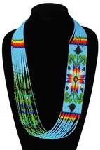 NE149-526 Blue Glass Crystal Beads Star Story Spirit Necklace Fair Trade... - $37.20