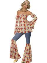 Vintage Hippie 1970'S Kostüm, 1970'S Disco Kostüm, M 12-14, Mädchen - $45.74