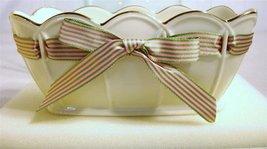 Lenox Great Giftables Ivory China Small Pierced Ribbon Bowl - $50.00