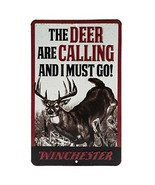 Open Road Brands Winchester Deer Calling Embossed Metal Sign - $12.27