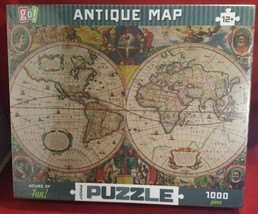 Antique map 1000 piece jigsaw puzzle (nib) - $15.52