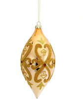 "3.5"" Shiny Gold Glittered Open Clover Finial Christmas Ornament - tkcc - $24.95"