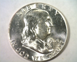 1963 FRANKLIN HALF DOLLAR CHOICE / GEM UNCIRCULATED+ CH. / GEM UNC.+ ORI... - $27.00