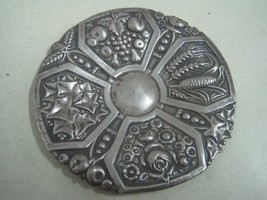 Antique small dish craved  in silver decorative (1) - $20.83