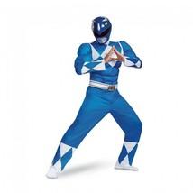Disguise Power Rangers Blau Klassisch Muskel Erwachsene Herren Halloween... - £47.70 GBP