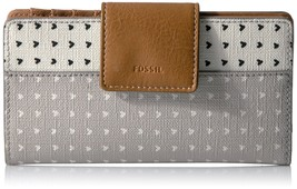 Fossil Emma Rfid Tab Clutch, Grey/White, One Size - $76.70