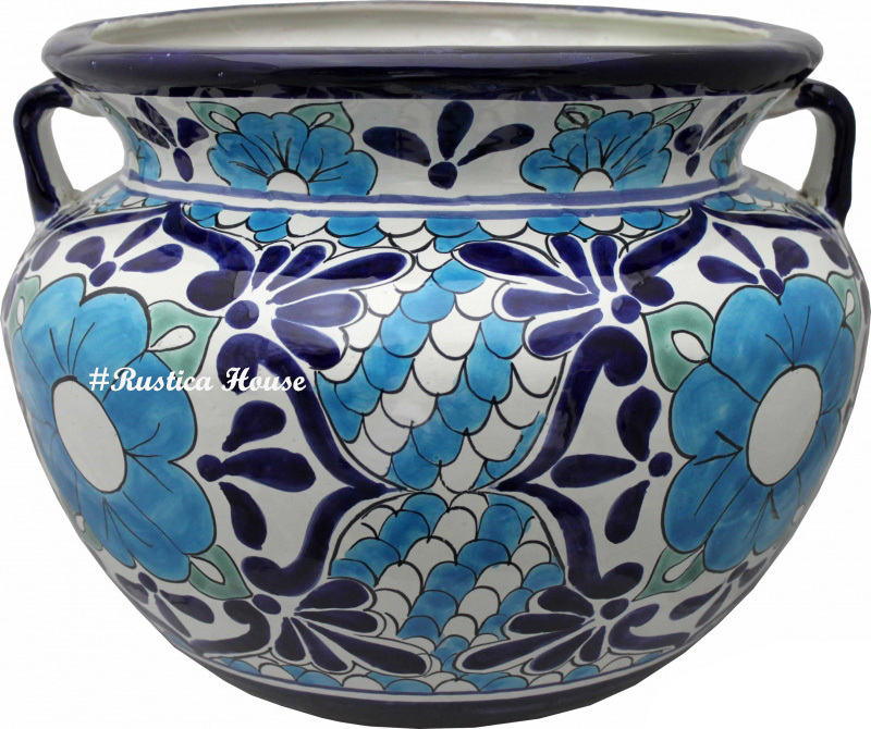 90383 ceramic talavera mexican hand painted planters 1 size1