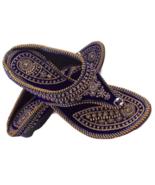 F171 Blue flat Khussa  Embroidery Handmade Shoe/Juti/Mojari WOMENS Usa S... - $19.80