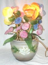 Vintage Roseville Gardenia Jardiniere with Slag Glass Art Light - OOAK -... - $225.00