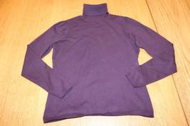 W10955 Womens Ann Taylor Loft Petite Purple Turtleneck Sweater, Size Ps - $11.65