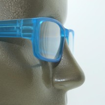 Reading Glasses Low Rise Rectangle Spring Hinge Frame Frosted Matte Aqua +2.00 - $18.00
