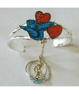 DOVE W HEARTS SLAVE BRACELET jewelry lady braclet #70 - $18.04