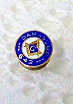 "Antique Masonic Damscus 643 Tiny Discreet Lapel Pin Measuring Under 1/2""... - $3.95"