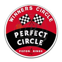 Perfect Circle Piston Rings Winners Circle Reproduction Round Aluminum Sign - $16.09
