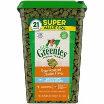 Greenies Feline Natural Dental Care Cat Treats Oven Roasted Chicken Flavor 21... - $25.69