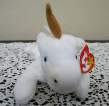 Ty Beanie Baby Mystic The Unicorn 4th Generation Brown Horn NEW - $22.27