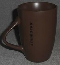 2011 Starbucks Seattle CHOCOLATE BROWN 10.5 oz Handled Mug - $14.84