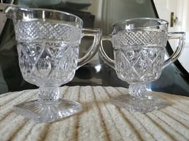 Vintage Cape Cod Imperial Glass Creamer, Sugar, & Salt Shaker - $16.78