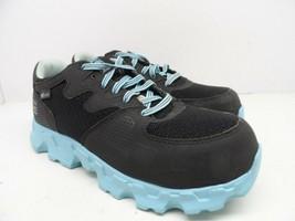 Timberland PRO Women's Powertrain Alloy-Toe Work Shoe 92670 Black/Blue 8W - £31.91 GBP