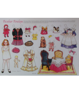 Peculiar Penelope Paper Doll Theresa Borelli 1992 + Cardstock + Envelope... - $7.49