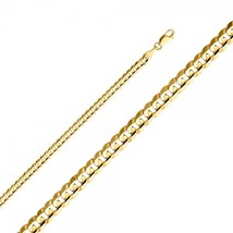 Men's 4mm 14K Yellow Gold Cuban Curb Concave Chain - $317.99+