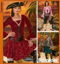 Simplicity 4914 sewing pattern makes Misses Pirate Costumes in sizes 6-8... - $12.25