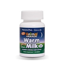 NaturesPlus Animal Parade Source of Life Warm Milk Children's Chewable Sleep Sup