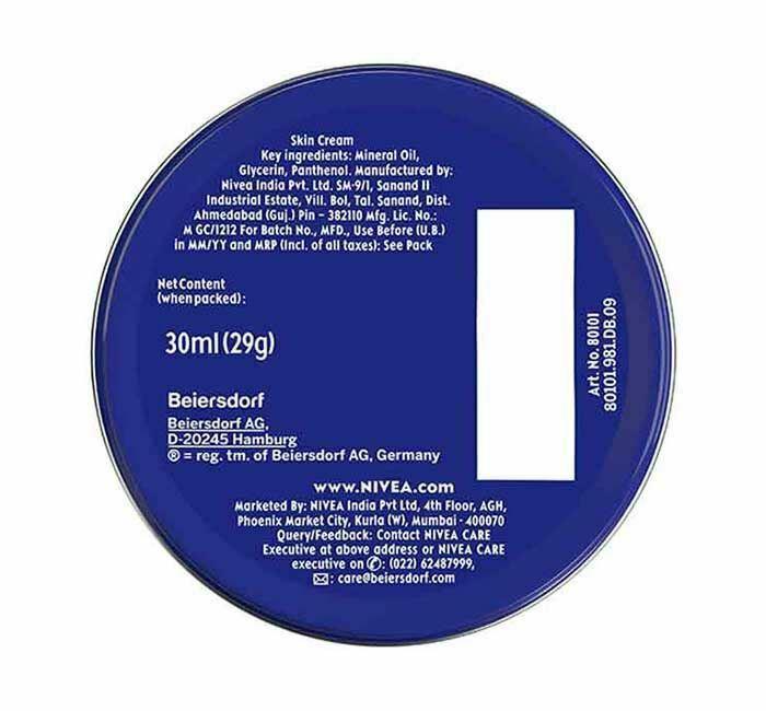 6 Can of 30 mL/ 1 oz NIVEA CREAM Skin Hand CREME moisturizer Metal Tin Total 6oz image 3