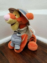 "Disney Parks Animal Kingdom 10"" Tigger Safari Plush with Binoculars - $14.50"