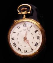 Large Antique Pocket watch - Mens jewelry - hallmarked ornate design - V... - $325.00