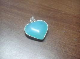 Amazing Blue Aquamarine Gemstone Heart Healing Power Feng Shui Pendant L... - $11.88