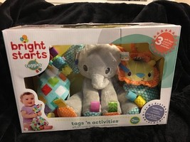 Bright Starts Taggies Gift Set 3 Baby Toys NIB Teether Rattle Soft Eleph... - $44.99