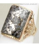 Antique c1900 Victorian RARE Silver in Quartz 14k Solid Rose Gold Men's ... - $787.05