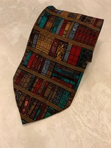 Eagles Wings Necktie Tie Inspirational Books Library Angels Sacred Heart... - $14.80